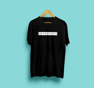 INTROVERT HALF-SLEEVE T-SHIRT ( BLACK) - antherr