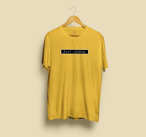 JUST CHILLIN' HALF-SLEEVE T-SHIRT (YELLOW) - antherr