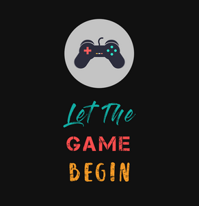 LET THE GAME BEGIN HALF-SLEEVE T-SHIRT (BLACK) - antherr