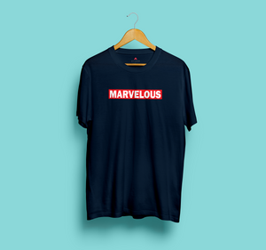 """MARVELOUS"" HALF-SLEEVE T-SHIRT"