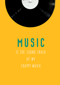 MUSIC IS THE SOUND TRACK OF MY CRAPPY MOVIE SPIRAL NOTEBOOK - antherr
