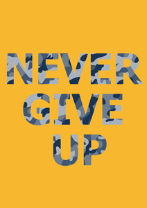NEVER GIVE UP HALF SLEEVE T-SHIRT - ANTHERR