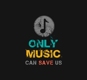 ONLY MUSIC CAN SAVE US HALF-SLEEVE CROP TOP (BLACK) - antherr