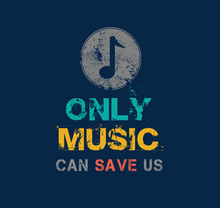 "Load image into Gallery viewer, ""ONLY MUSIC CAN SAVE US"" - HALF-SLEEVE CROP TOP"