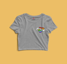 "Load image into Gallery viewer, "" LOVE IS PRIDE  "" -HALF-SLEEVE CROP TOPS - antherr"