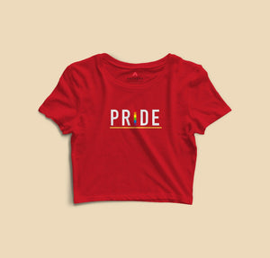 """ PRIDE "" HALF-SLEEVE T-SHIRT (YELLOW) - antherr"