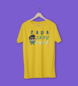 SADA SEXY RAHO HALF-SLEEVE T-SHIRT (YELLOW) - antherr
