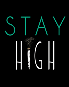 STAY HIGH HALF-SLEEVE T-SHIRT (BLACK) - antherr