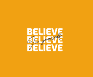 """ BELIEVE IN YOURSELF "" - UNISEX HALF-SLEEVE T-SHIRTS - ANTHERR"