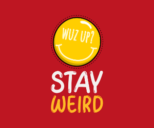 """ STAY WEIRD "" - 3/4TH SLEEVE T-SHIRT DRESSES - ANTHERR"