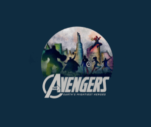 """ AVENGERS - EARTH'S MIGHTIEST HEROES "" - HALF-SLEEVE T-SHIRTS - ANTHERR"