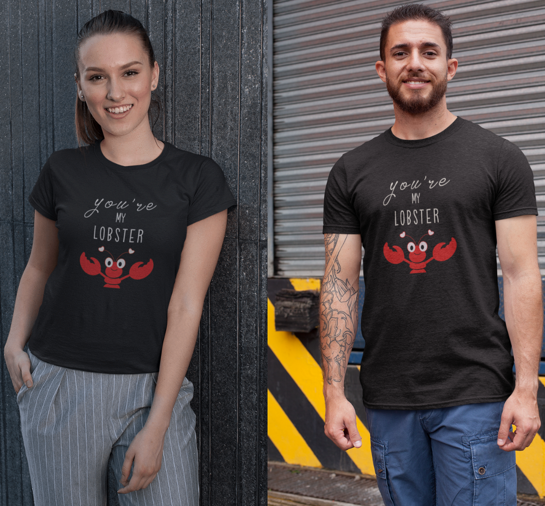 You're My Lobster : FRIENDS - Half Sleeve Couple T shirts