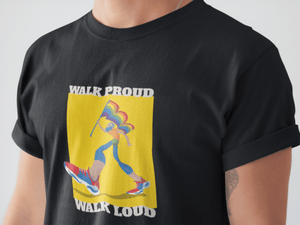 WALK PROUD WALK LOUD HALF-SLEEVE T-SHIRT. - ANTHERR