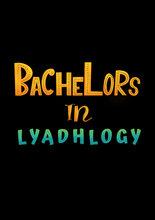 "Load image into Gallery viewer, "" BACHELORS IN LYADHOLOGY"" HALF-SLEEVE T-SHIRT (BLACK) - antherr"