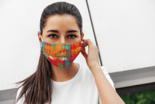 Load image into Gallery viewer, RED AND TEAL : Printed Tetra Shield Protection Mask - ANTHERR