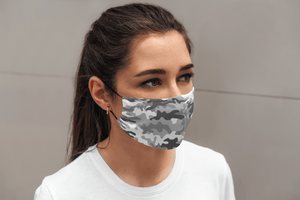 Grey Camouflage : Printed Tetra Shield Protection Mask ( PACK OF 3 ) - ANTHERR