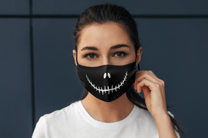 Devil Smile: Printed Tetra Shield Protection Mask ( PACK OF 3 ) - ANTHERR