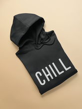 "Load image into Gallery viewer, ""CHILL""- WINTER WOMEN HOODIES (BLACK)"