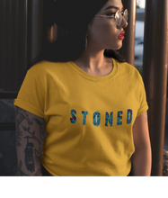 Load image into Gallery viewer, STONED HALF-SLEEVE T-SHIRT (YELLOW) - ANTHERR