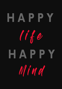 HAPPY LIFE HAPPY MIND SPIRAL NOTEBOOK - antherr