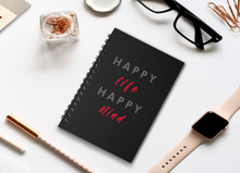 Load image into Gallery viewer, HAPPY LIFE HAPPY MIND SPIRAL NOTEBOOK - antherr