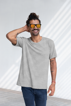 Load image into Gallery viewer, BASIC HEATHER GREY HALF-SLEEVE T-SHIRTS