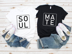 Soul Mate - Half Sleeve Couple T shirts
