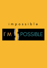 "Load image into Gallery viewer, ""IMPOSSIBLE"" HALF-SLEEVE T-SHIRT (YELLOW) - antherr"