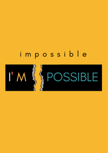 """IMPOSSIBLE"" HALF-SLEEVE T-SHIRT (YELLOW) - antherr"
