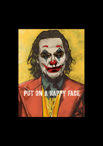 """ JOKER - PUT ON A HAPPY FACE "" - HALF-SLEEVE T-SHIRTS"