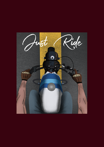 """JUST RIDE "" - HALF-SLEEVE T-SHIRT'S"