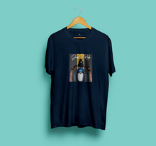 "Load image into Gallery viewer, ""JUST RIDE "" HALF-SLEEVE T-SHIRT (NAVY BLUE) - antherr"