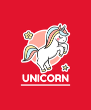 "Load image into Gallery viewer, ""UNICORN"" KIDS HALF-SLEEVE T-SHIRTS - ANTHERR"