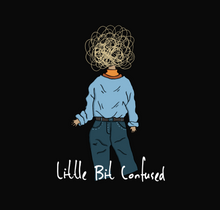"Load image into Gallery viewer, ""LIL  BIT CONFUSED "" -HALF-SLEEVE CROP TOP - antherr"