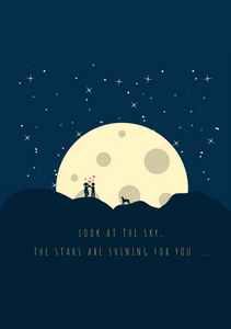LOOK AT THE SKY THE STARS ARE SHINING FOR YOU SPIRAL NOTEBOOK - antherr