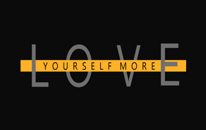 LOVE YOURSELF MORE HALF SLEEVE CROP TOPS (BLACK) - antherr