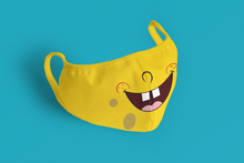 Load image into Gallery viewer, SpongeBob: Printed Tetra Shield Protection Mask - ANTHERR