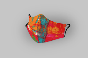 RED AND TEAL : Printed Tetra Shield Protection Mask (PACK OF 3) - ANTHERR