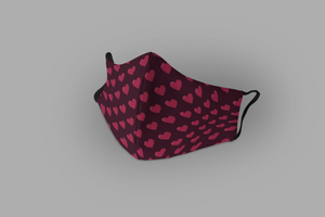 Heart Pattern : Printed Tetra Shield Protection Mask (PACK OF 3)