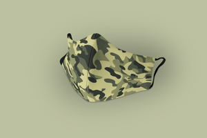 Olive Camouflage : Printed Tetra Shield Protection Mask - ANTHERR