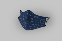 Load image into Gallery viewer, Space Doodles : Printed Tetra Shield Protection Mask ( PACK OF 3 )