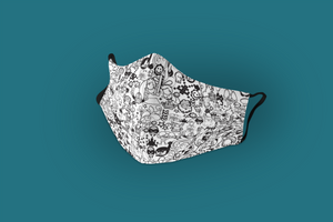 """Doodle Art Patterns"" : Tetra Shield Protection Mask (PACK OF 3)"