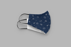 Space Doodles : Printed Tetra Shield Protection Mask ( PACK OF 3 )
