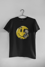 Load image into Gallery viewer, SKULL SMILEY  : HALF SLEEVE T-SHIRT