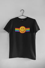 Load image into Gallery viewer, PRIDE SMILEY HALF-SLEEVE T-SHIRT. - ANTHERR