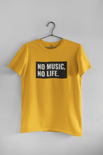 "Load image into Gallery viewer, "" NO MUSIC, NO LIFE "" - HALF-SLEEVE T-SHIRT'S - ANTHERR"