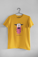 Load image into Gallery viewer, THE COWARDLY DOG : MONEY HEIST - HALF SLEEVE T-SHIRTS - ANTHERR