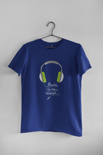 "Load image into Gallery viewer, ""MUSIC IS MY ESCAPE"" HALF-SLEEVE T-SHIRT'S"