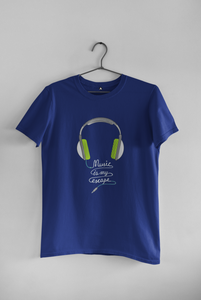 """MUSIC IS MY ESCAPE"" HALF-SLEEVE T-SHIRT'S"