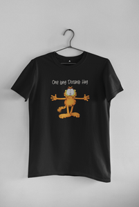 A LONG DISTANCE HUG - GARFIELD:  HALF-SLEEVE T-SHIRTS - ANTHERR